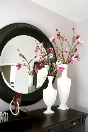 Белая ваза