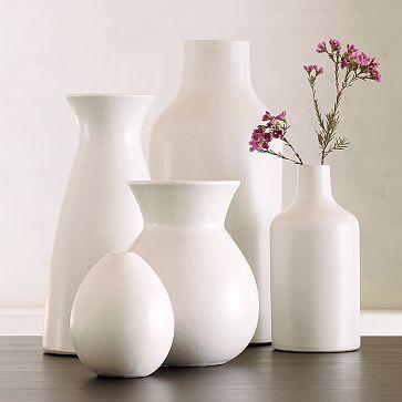 Белые вазы для цветов
