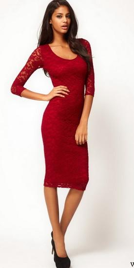Женские платья ниже колена фото