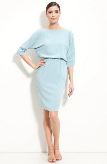 Платье с широким рукавом фото