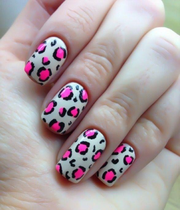 Рисунки на ногтях леопардовые