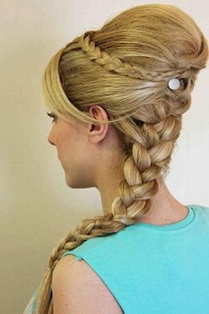 Коса по голове фото