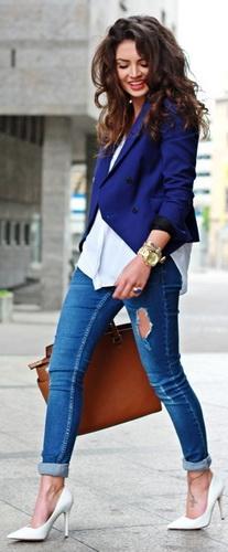 С чем носить джинсы? 60 фото-сетов