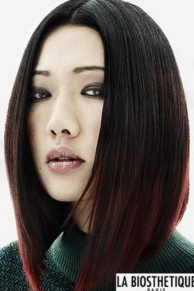 Причёска на линейку на длинные волосы