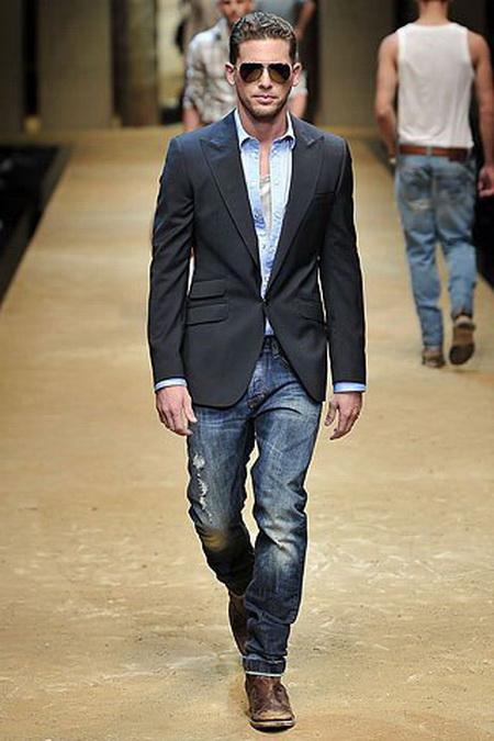 фото джинсы и пиджак мужской