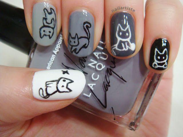 Легкие рисунки на ногтях пошагово