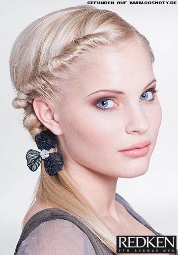 Плетение средних волос - фото и видео