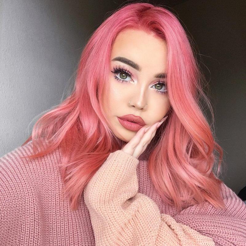 розовые волосы фотосессия использовать технику
